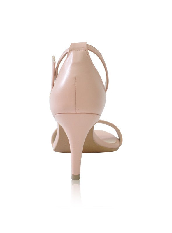 Mila Heels in Blush