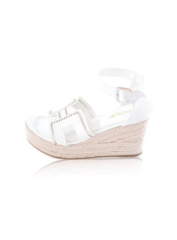 Harley Wedges in White