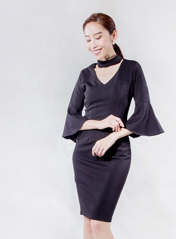 Choker Dress in Black
