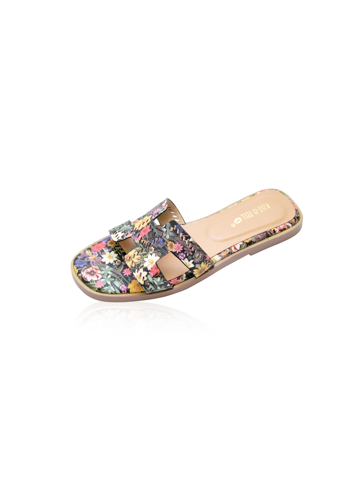Alison Flats in Black Floral