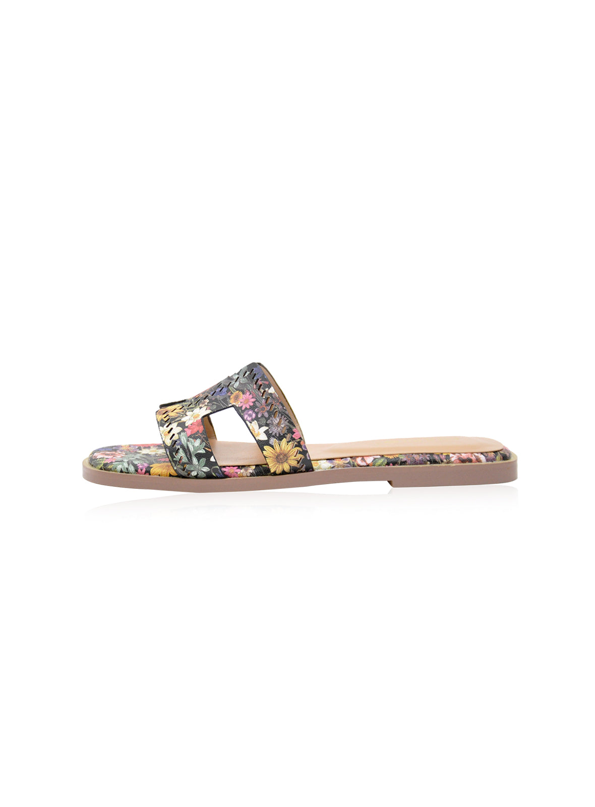 Allison Flats in Black Floral