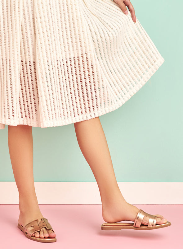 Allison Flats in Rose Gold