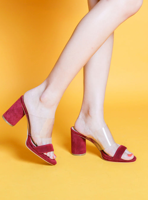 Andrea Heels in Wine