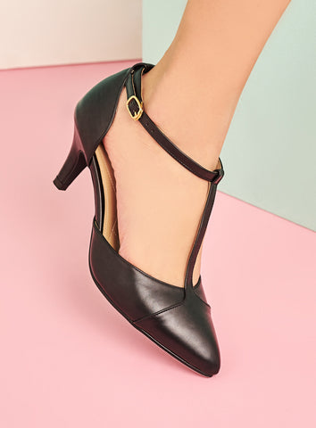 Krystal Heels in Black