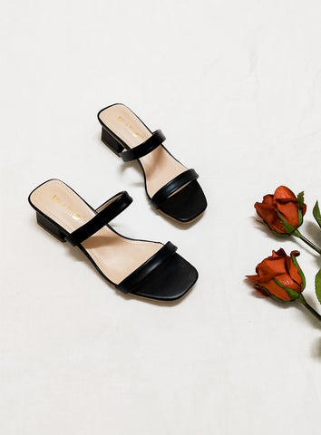 Hanna Mules in Black