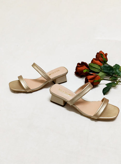 Anna Heels in Rose Gold