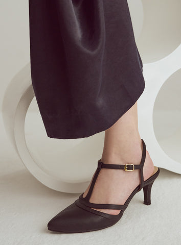 Callie Heels in Black Suede