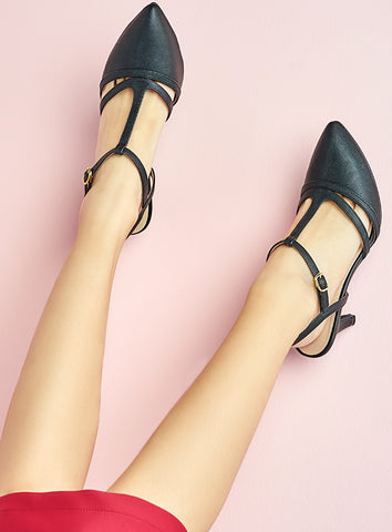 Kayla Heels in Black