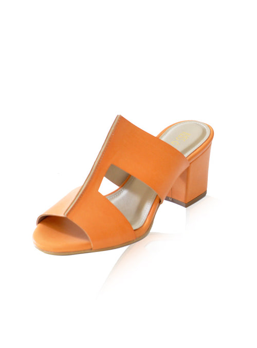 Becca Heels in Tan Orange