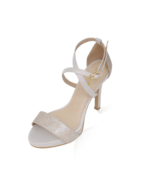 Bella Heels in Ivory