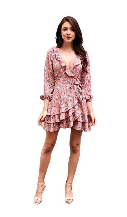 Miss Seventythree Bella Dress in Mauve Pink