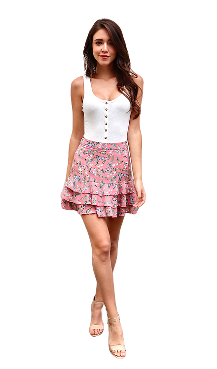 Miss Seventythree Bella Skirt in Mauve Pink