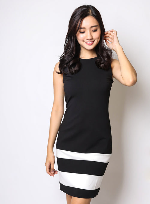Brigette Dress in Black (Reject)
