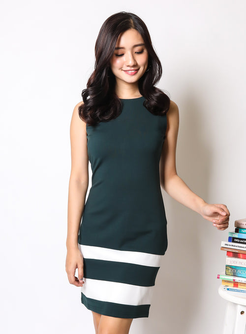 Briggette Dress in Forest Green