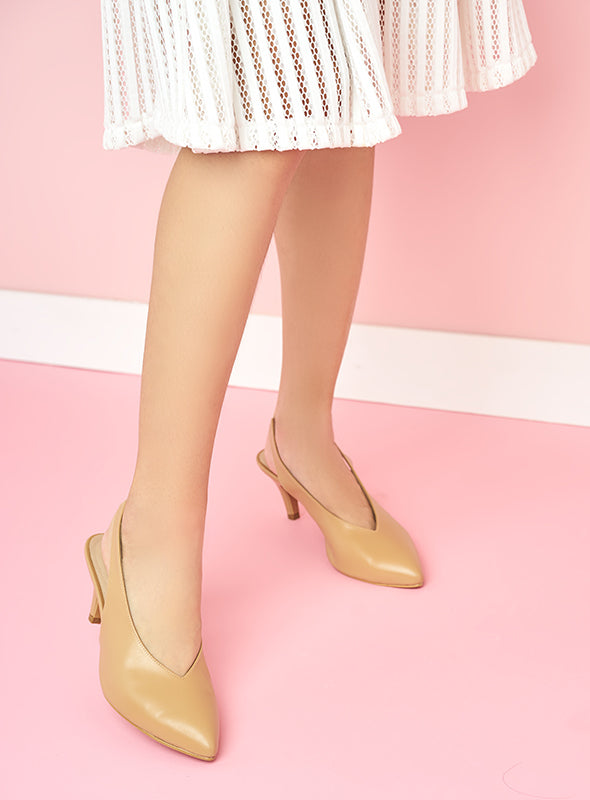 Callie Heels in Nude