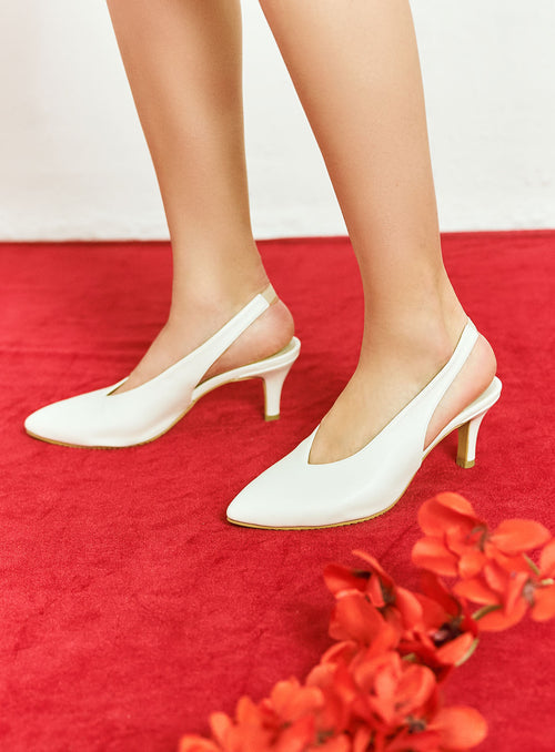 Callie Heels in White