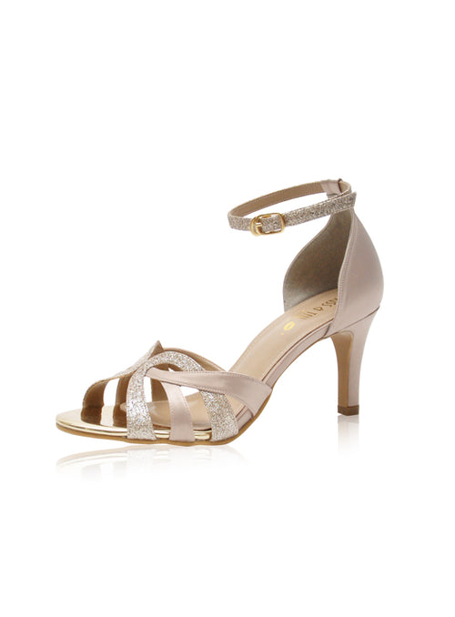 Camelia Heels in Champagne