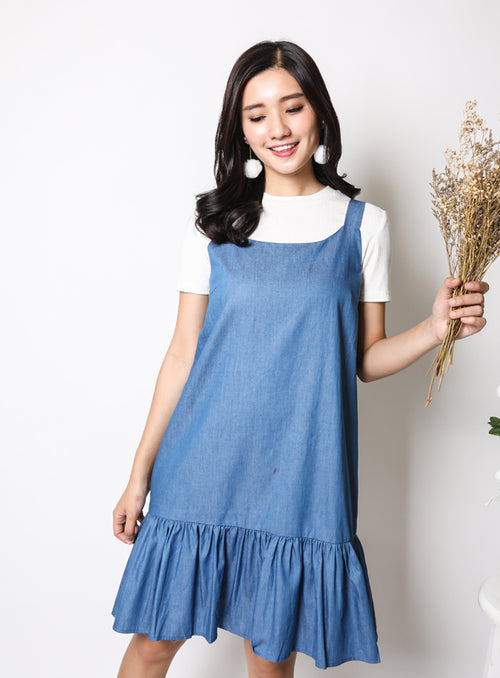 Carly Dress in Denim