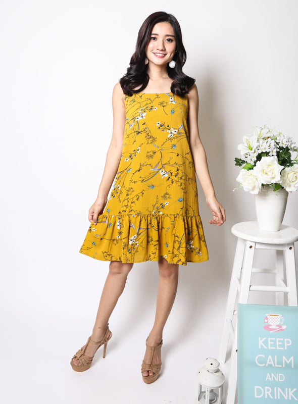 Carly Dress in Mustard