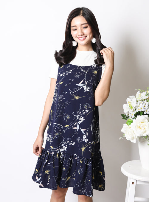 Carly Dress in Navy