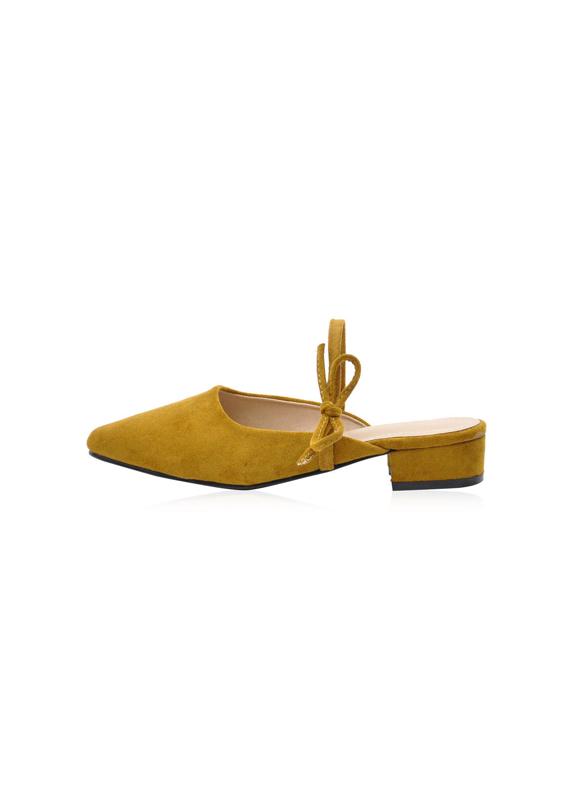 Caroline Mules in Mustard Yellow ( Reject )