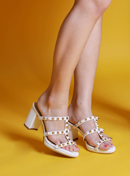 Carven Heels in White