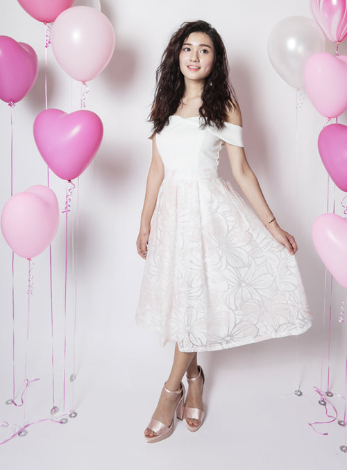 Clarkson Dress in White (Defect)