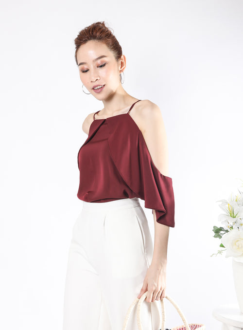 Cleo Top in Wine