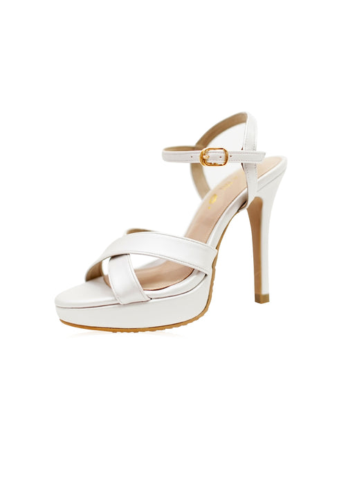 Skylar Heels in White