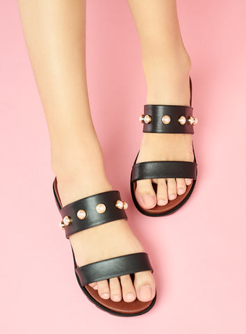 Mya Wedges in Black