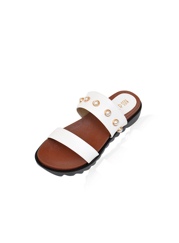 Dyna Sandals in White