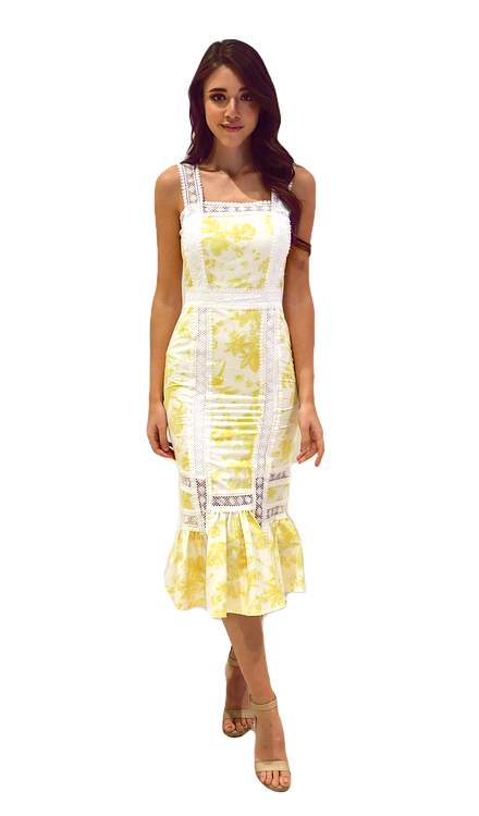 Miss Seventythree Eliza Dress in Yellow