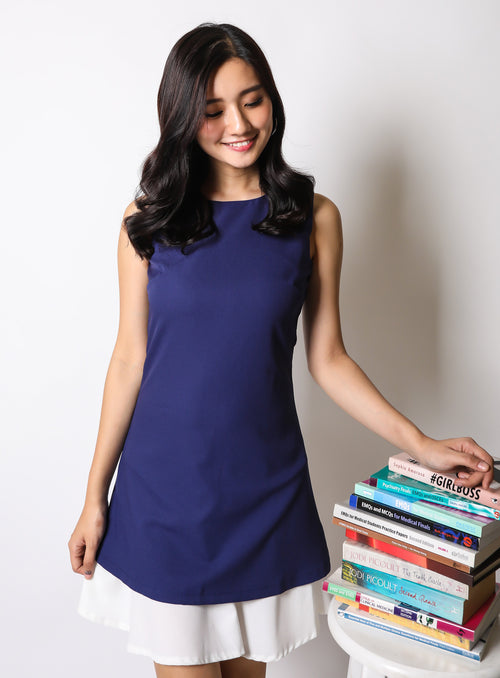 Eloise Dress in Navy