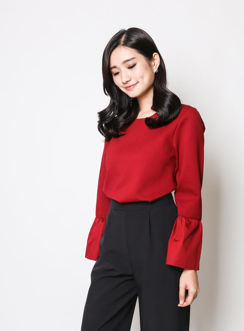 Erin Blouse in Wine