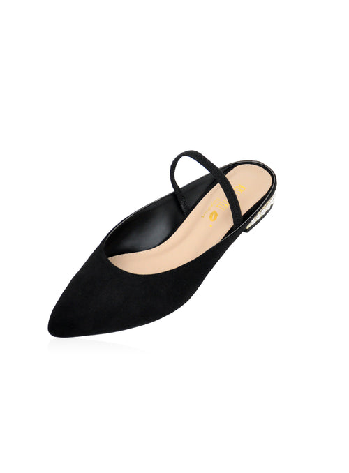 Gemma Flats in Black