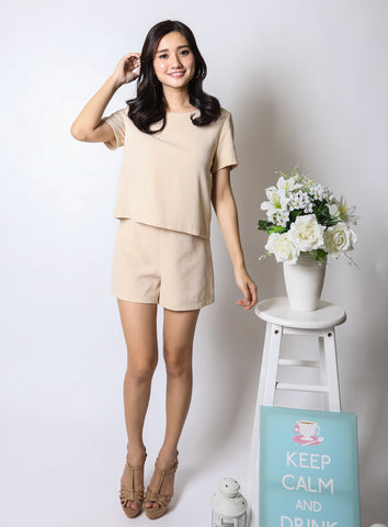 Cai Romper in Cream