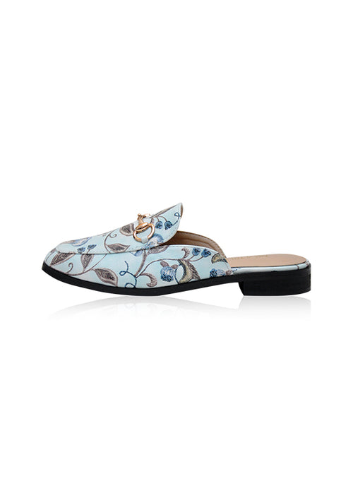 Heather Mules in Baby Blue