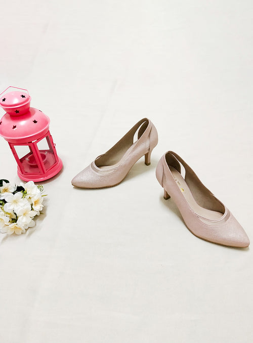 Tricia Heels in Dusty Pink