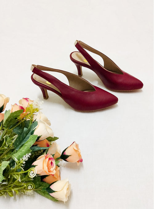 Callie Heels in Wine