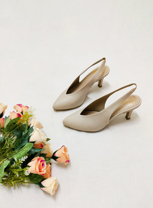 Callie Heels in Beige