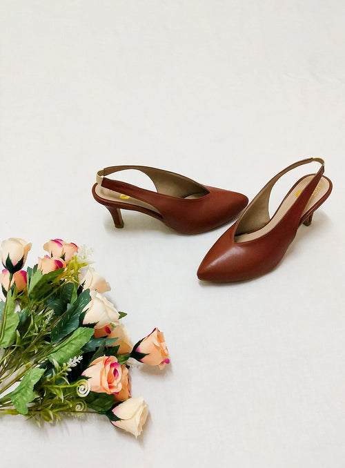 Callie Heels in Tan