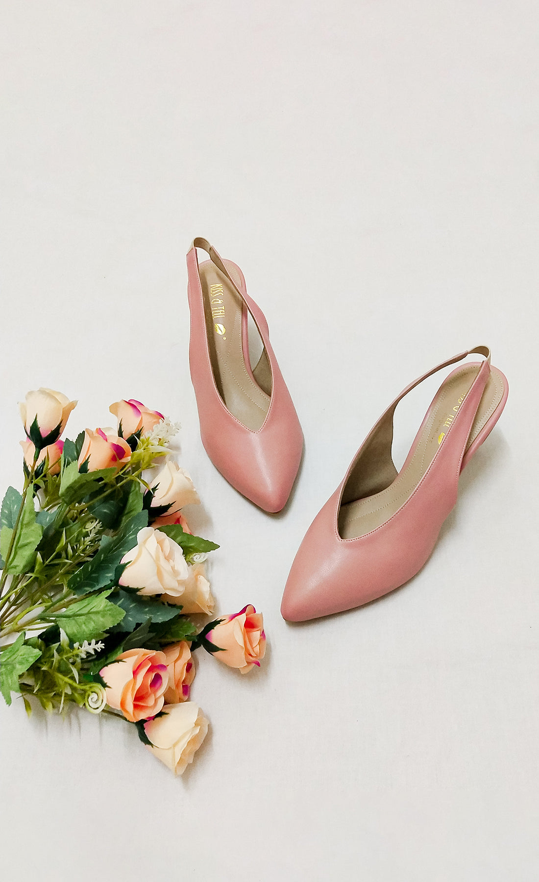 Callie Heels in Dusty Rose