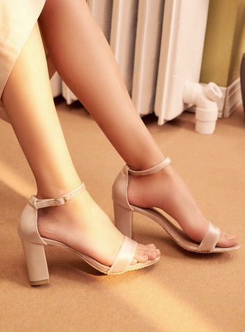 Paige Heels in Grey