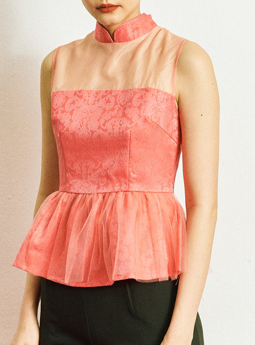 Jin Top in Coral