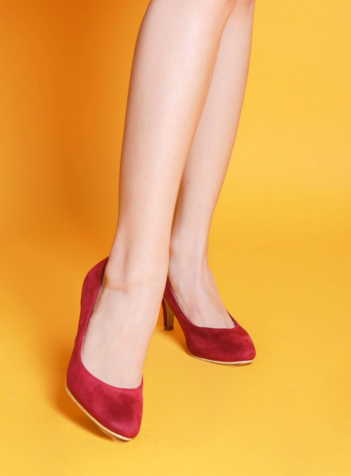 Katy Heels in Wine
