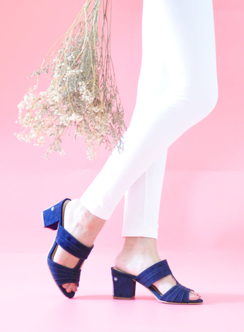 KL Heels in Navy