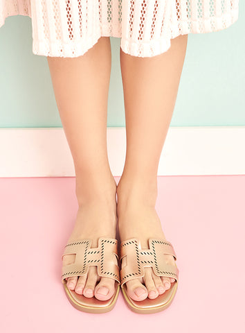 Julia Mules in Blush