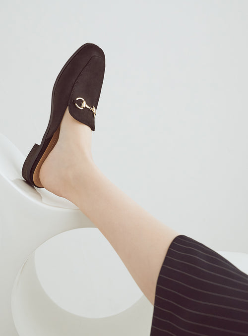 Julia Mules in Black Suede