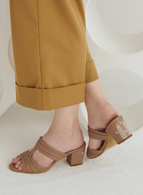 KL Heels in Taupe