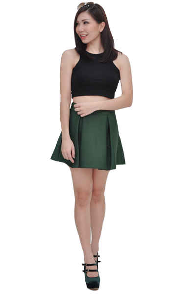 Kaila Skirt in Forest Green